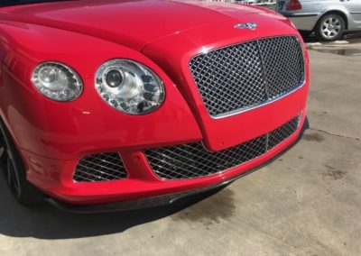 Red Bentley front grill