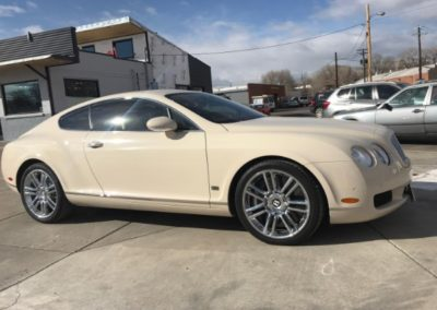 White Bentley side view